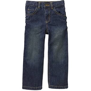 15b0c5e2 Amazon.com: Healthtex Baby Toddler Boy 5-Pocket Straight-Fit Jeans ...