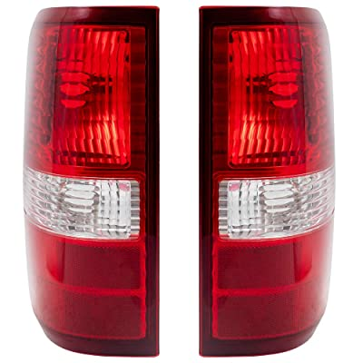 Driver and Passenger Taillights Tail Lamps Replacement for 2004-2008 F150 Styleside Pickup Truck 6L3Z13405BA 6L3Z13404BA: Automotive
