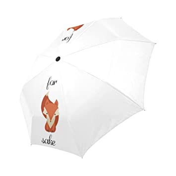 Enne Fox paraguas lluvia paraguas de viaje compacto plegable sol paraguas resistente al viento UV Protección