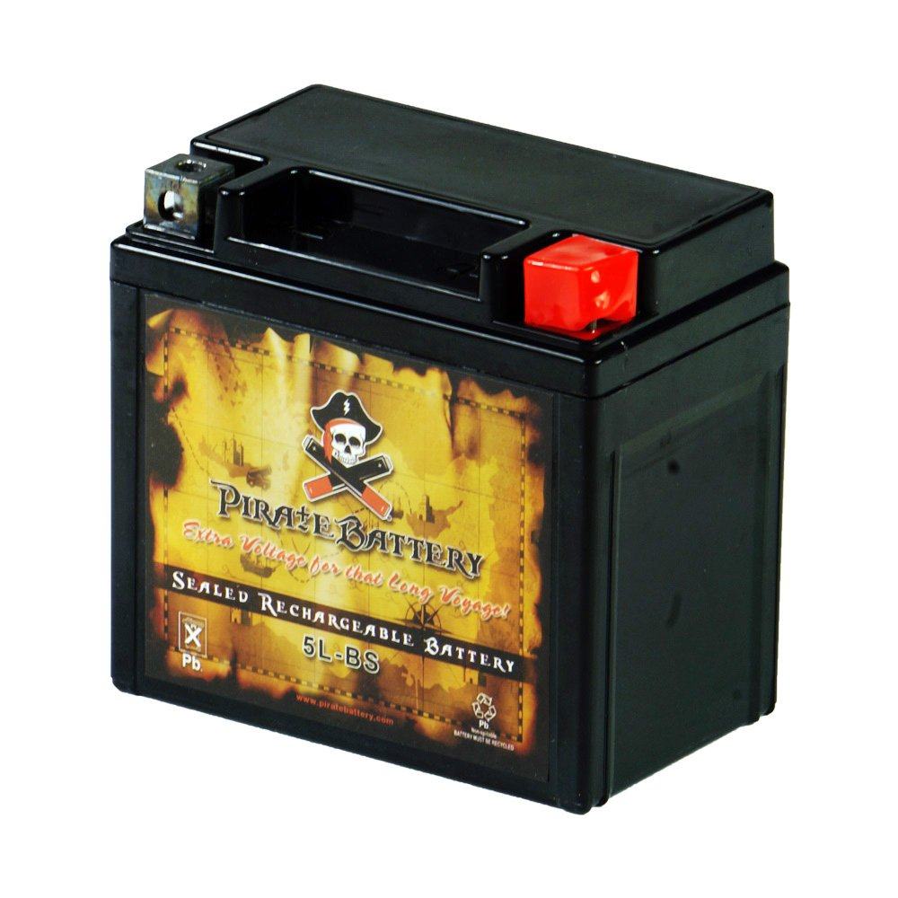 YTX5L-BS Replacement Motorcycle Battery - Rechargeable High Performance - AGM - Sealed Maintenance Free - Pirate Battery by Pirate Battery