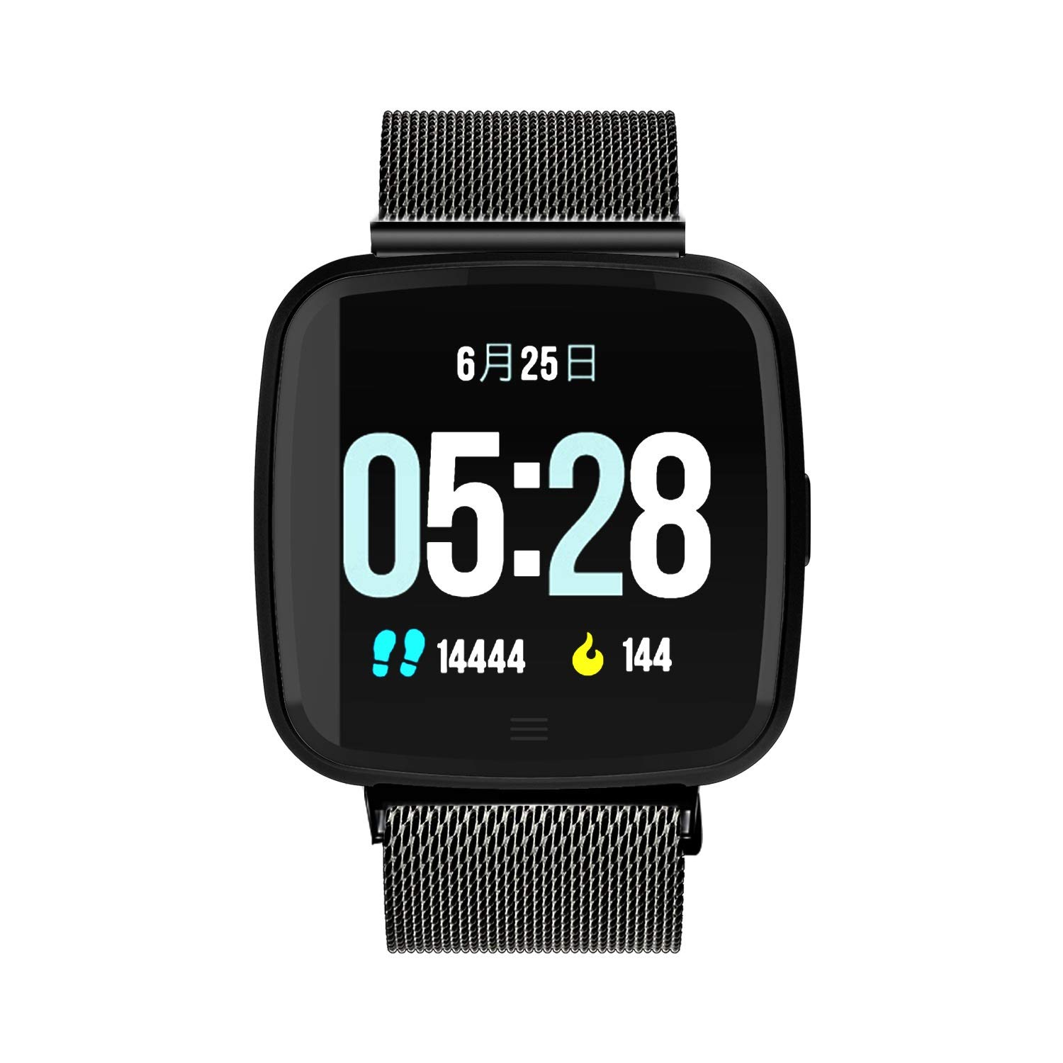 LiChenYao Smart Watch, Heart Rate Detection, Call Reminder, Bluetooth Watch, Message Push, Outdoor Sports Fitness, Smart Watch (Color : D) by LiChenYao