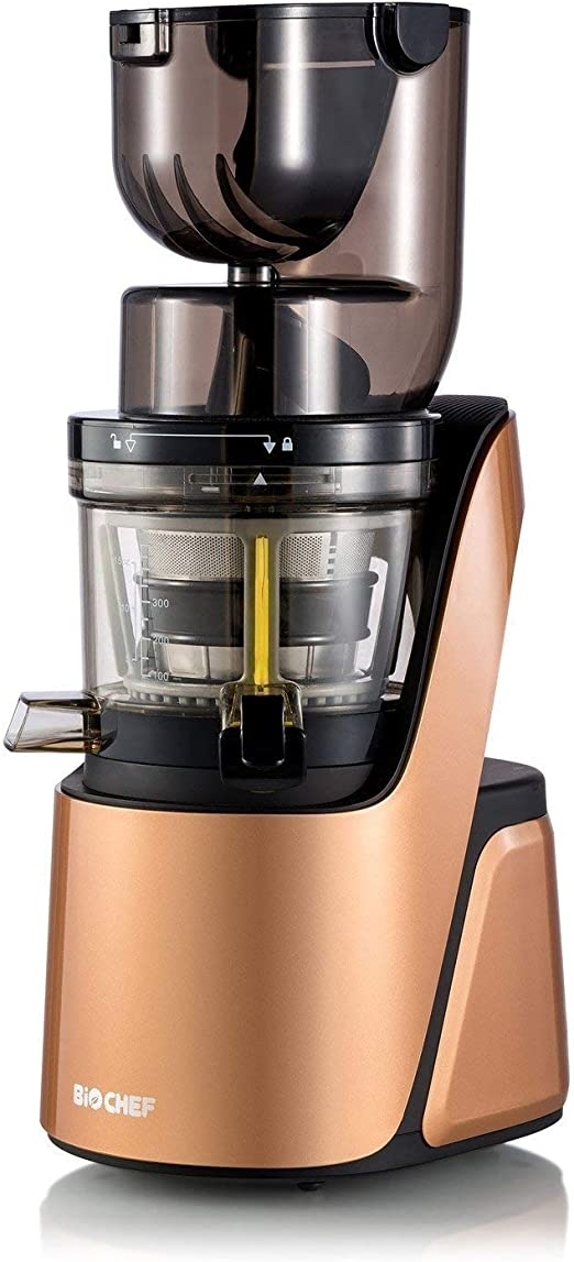 Provide You Anti-Oxidation Juice. 75mm Wide Mouth chute, 240W Brushless Quiet Motor, Include Frozen Dessert Strainer Heaven Fresh Slow Masticating Juicer