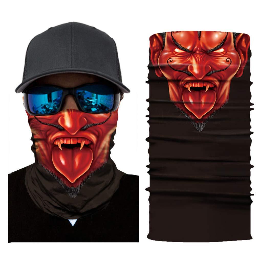 TianranRT Radfahren Motorrad Kopf Schal Hals Wärmer Gesicht Maske Ski Sturmhaube Stirnband (B)
