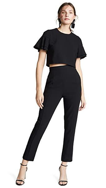 Amazon.com: Negro halo Women s Syon 2 piezas overol: Clothing