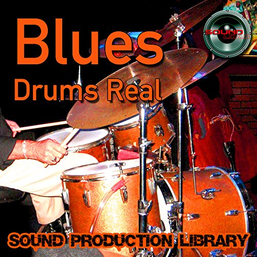 BLUES DRUMS Real - Large original Loops/Grooves 24bit production studio library on DVD or -