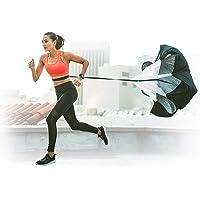 Cheelom Entrenamiento de Carrera de Velocidad, Paquete Running Speed Training Resistencia Paracaídas Speed Training Power Parachute Football Training Equipment 150cm