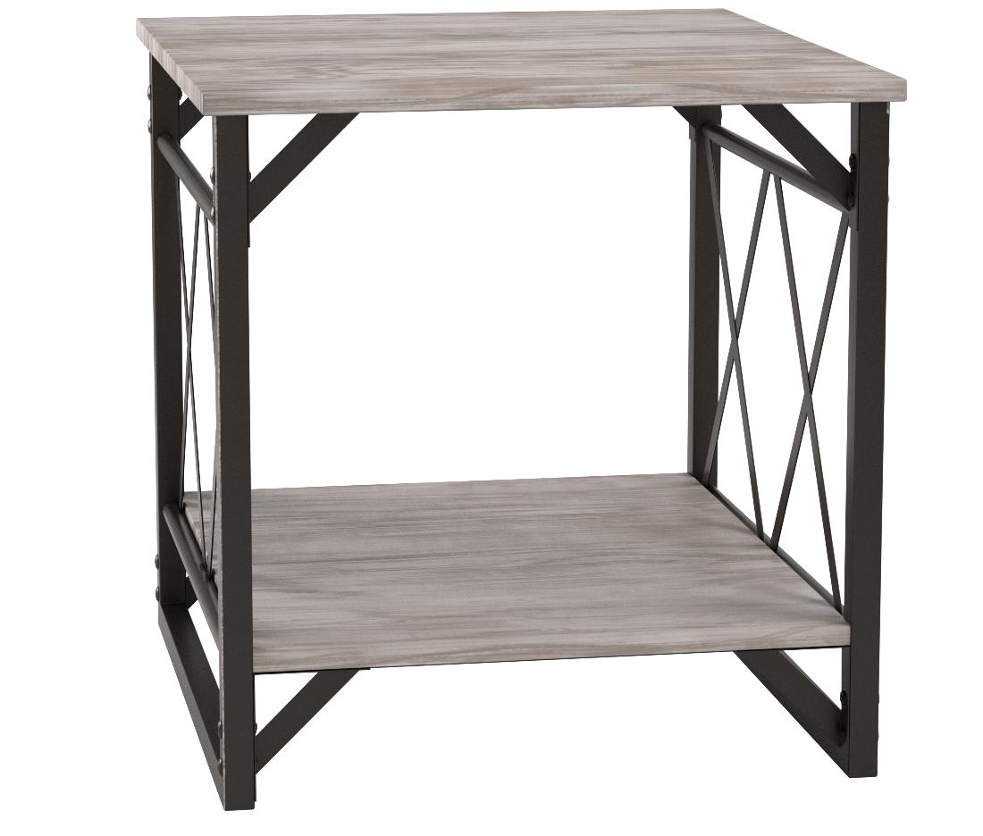 Metro Shop Seneca XX Black/ Grey Reclaimed End Table