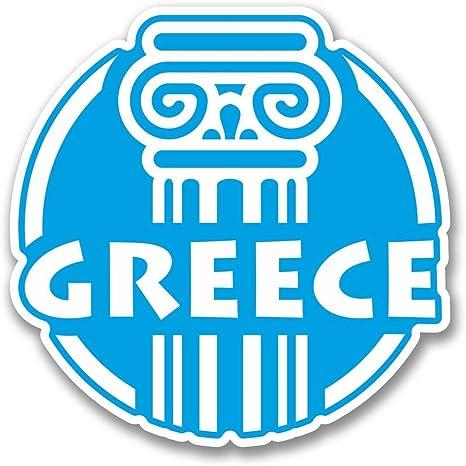 2 x 10cm Greece Greek Vinyl Sticker Decal Luggage Travel Laptop Car Flag #6411