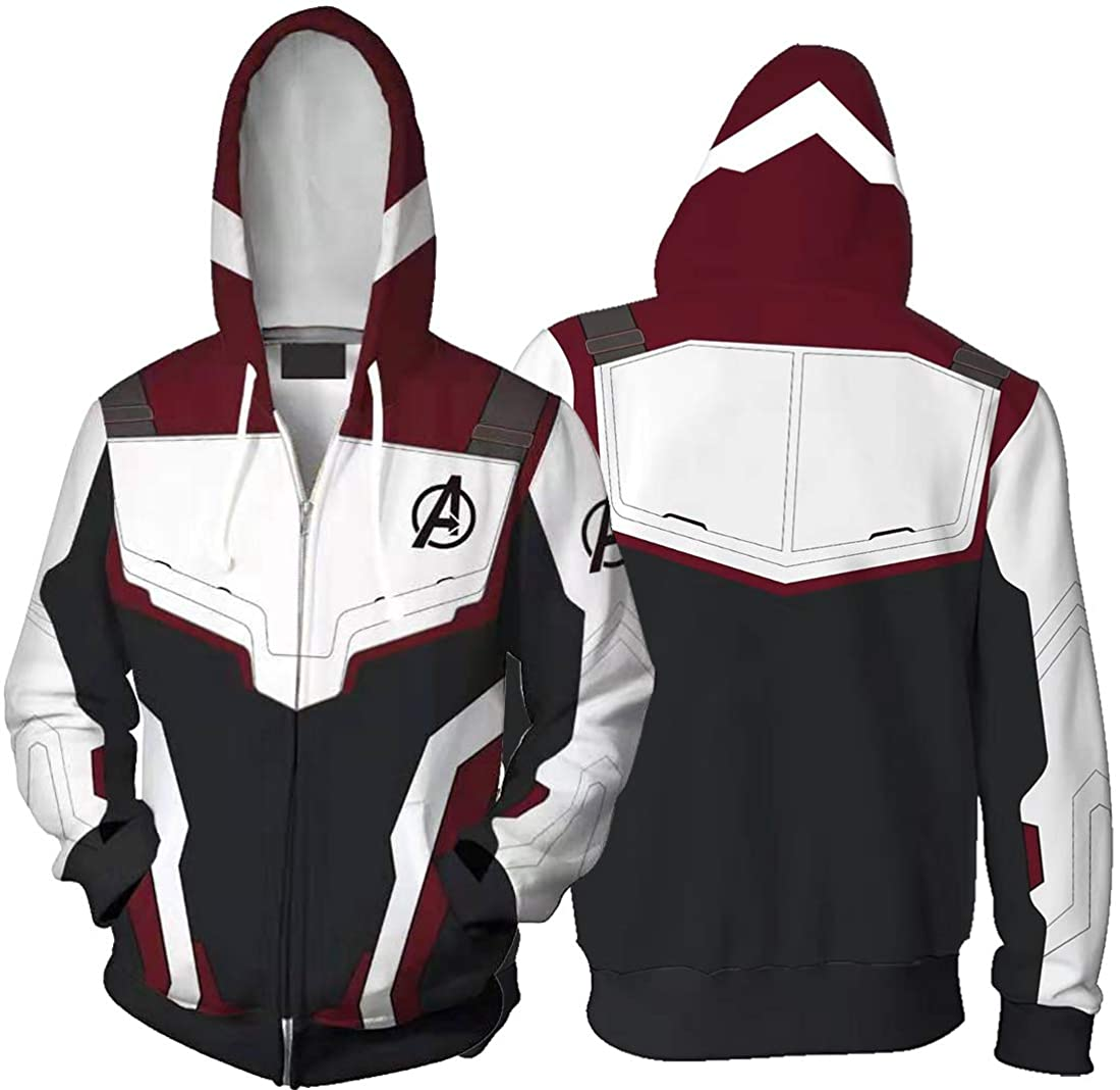 Avengers 4 Endgame Hoodie 3D Print Men/'s Sweatshirts Sweater Zipper Jacket Coat