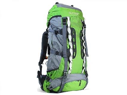 Sutter Mochila de Senderismo Premium de 80 litros Verde *Impermeable* para Excursiones y Trekking