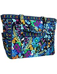 Vera Bradley Get Carried Away Tote Midnight Blues