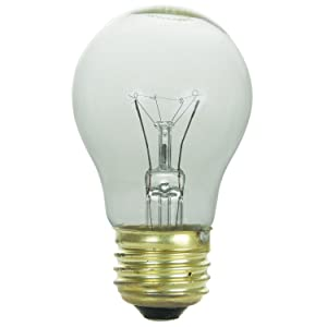 Sunlite 40A15/CL/CD1 120-volt 40-watt Medium Base Incandescents A15 Appliance Lamp