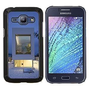 "For Samsung Galaxy J1 J100 , S-type Arquitectura Blanca minimalista"" - Arte & diseño plástico duro Fundas Cover Cubre Hard Case Cover"