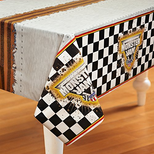 Party 3d Pinata - BirthdayExpress Monster Jam Party Supplies - Plastic Table Cover