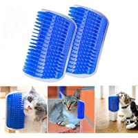 Pet Cat Comb Brush Massage Device Self Groomer Pet Dog Cat Hair Removal Brush Comb Pet Cat Toys (blue)