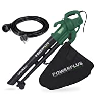 Powerplus Garden 3 in 1 Electric Leaf Blower Shredder Vacuum 3000 Watt with 35 Litre Collection Bag POW63172 Plus 10 Metre Extension Cable & 2 Year Warranty