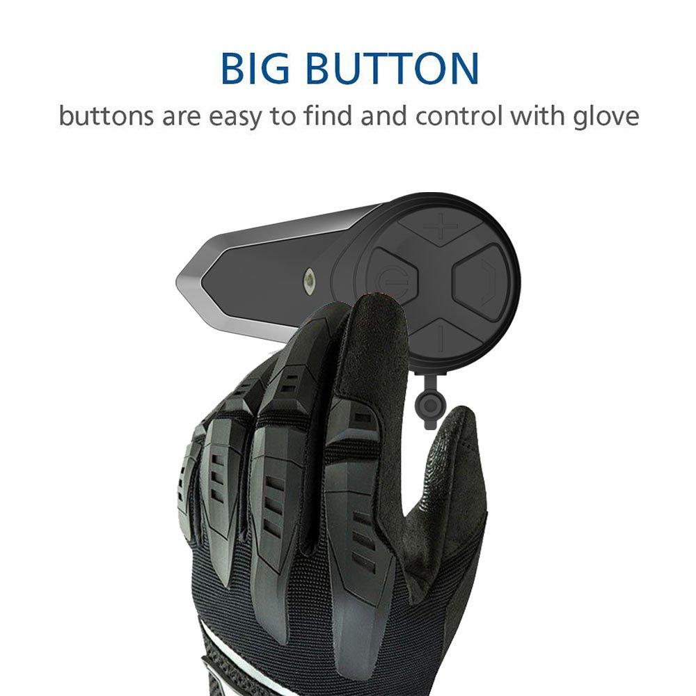 ENCHICAS BT-S3-2x Intercom Moto Duo pour 2 Casques Bluetooth Kit Main Libre Headphones Int/égrable au Casque Moto /& Ski