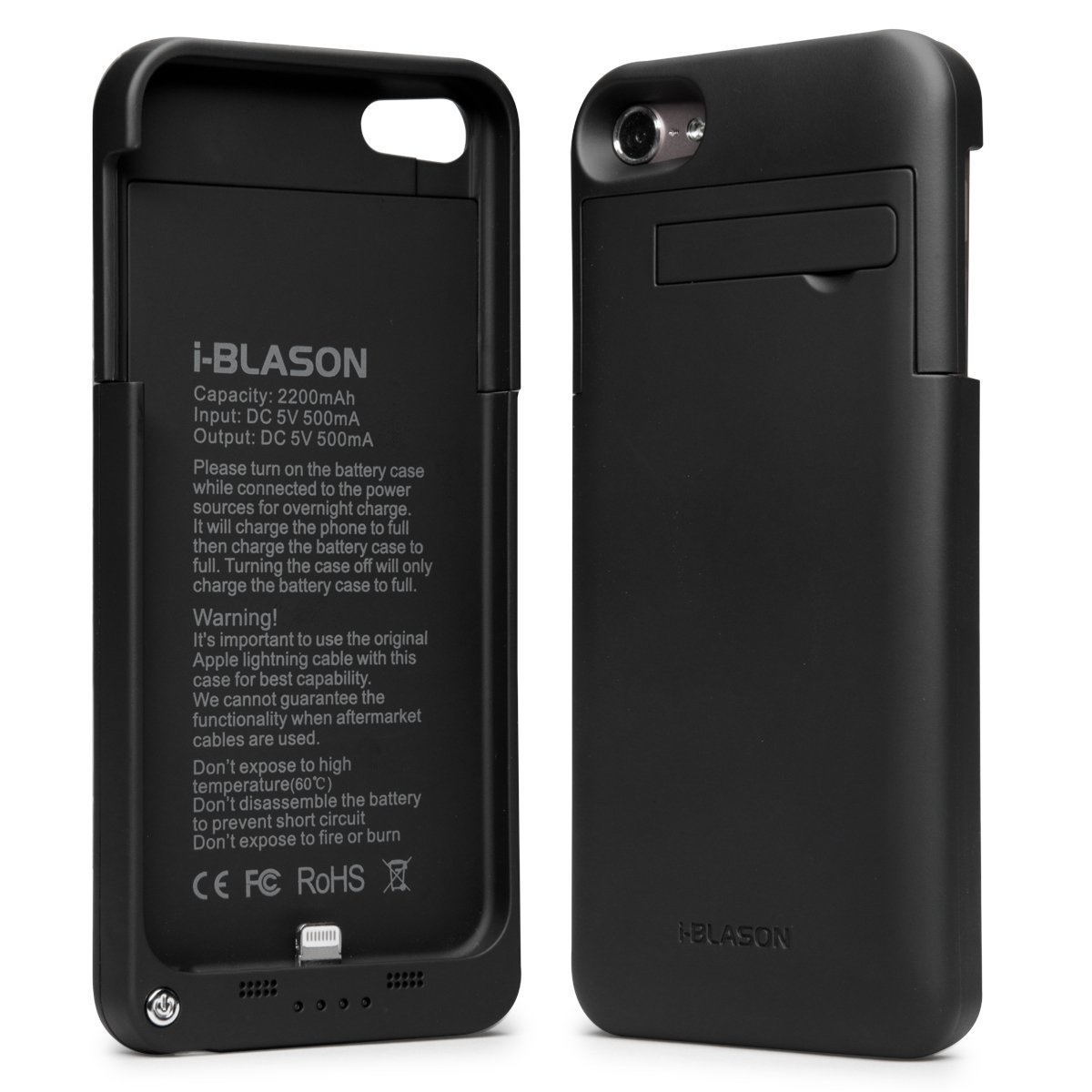 buy online 8ea7a 2dc6f i-Blason Power Glider iPod Touch 5th 6th Generation iTouch 5 6 Rechargeable  External Battery Slider Full Protection Case with Apple New 8 Pin ...