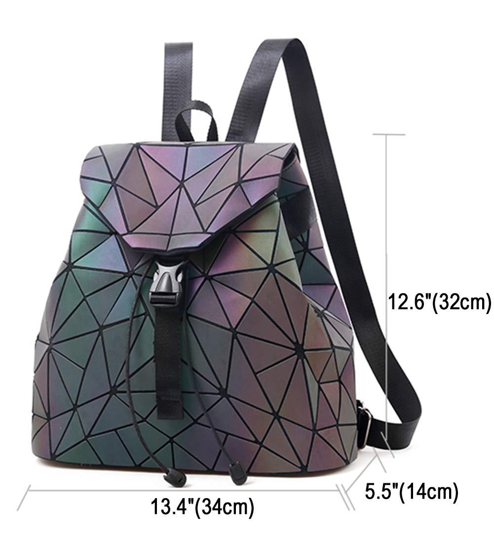 4c5f327ee982 Geometric Backpack Luminous Backpacks Holographic Reflective Bag Lumikay  Bags Irredescent Rucksack Rainbow NO.2