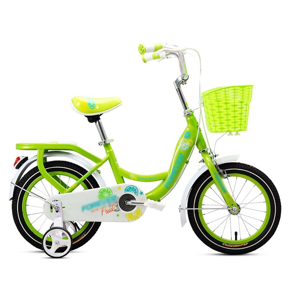 子供の自転車ベビーペダル自転車2 – 3 - 4 – 6によるYears Old Boy and Girl幼児自転車ベビーカー子供用自転車12 14 16 18インチブルーグリーンピンク 16 inch グリーン B07DYL7K88