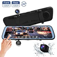 Deals on Chicom 9.66-inch Mirror Dash Cam Touch Full Screen