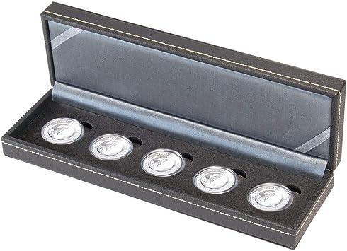 Lindner Estuche Monedas NERA S para 5 Piezas. Alemania. € 10 Monedas de colección con Anillo de polímero en cápsulas, Incluidas cápsulas: Amazon.es: Juguetes y juegos