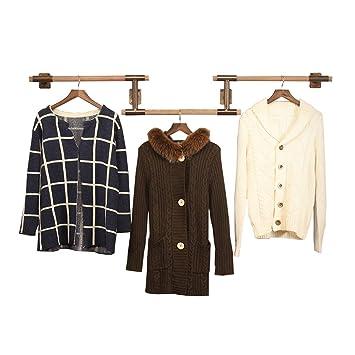 LQQ-Ganchos para abrigos Wall Coat Rack Hangers Ropa Display Stand para guardarropa Tienda de Ropa para la Sala de Estar del Dormitorio (Estilo : 1): ...