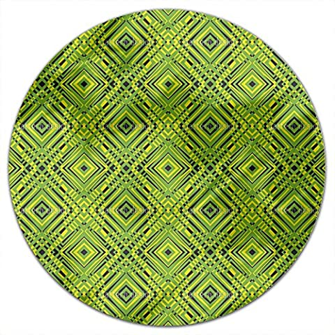 Squared Freshness Round Tablecloth: Small Dining Room Kitchen Woven Polyester Custom Print (Squared Round Dining Room Table)