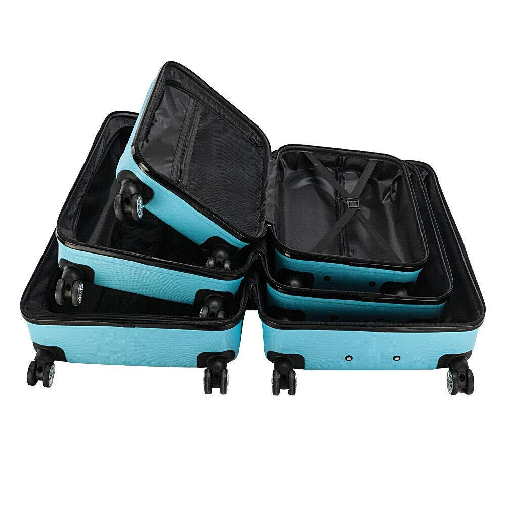 poppip Hardside 3 Piece Nested Spinner Suitcase Luggage Set With TSA Lock