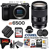Sony Alpha a6500 Mirrorless Digital Camera (Body Only) International Version (No Warranty) + Sony E 18-200mm f/3.5-6.3 OSS LE Lens + 32GB Memory Card Kit