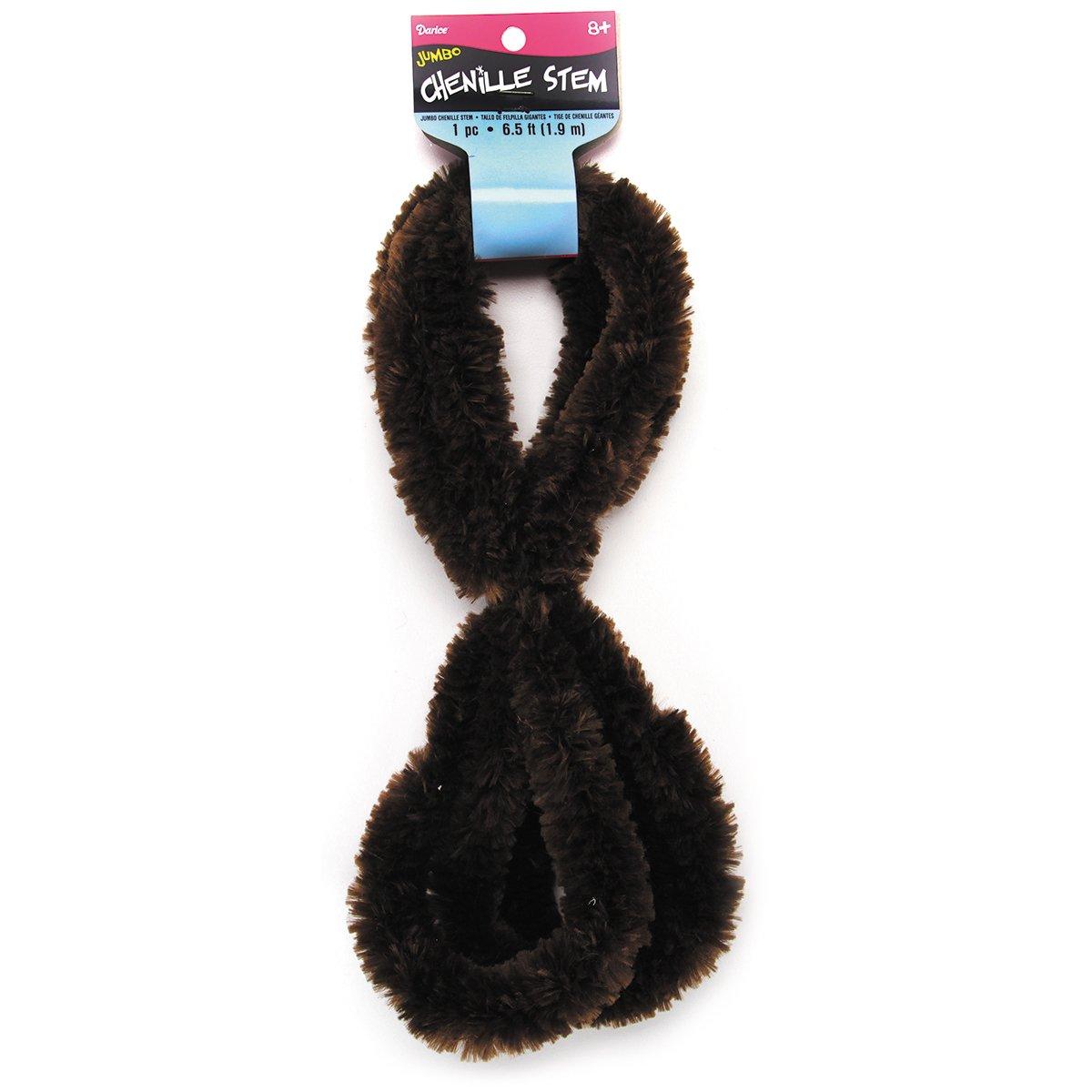 6.5-Ft Black Darice 450116 Jumbo Chenille Stem