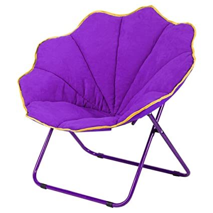 Purple Moon Chair Creative Lazy Suede Fabric Tumbonas ...