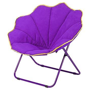 Chaise Pliage Violet Tissu Chaises Suede Paresseux Lune Creative lF1JKc