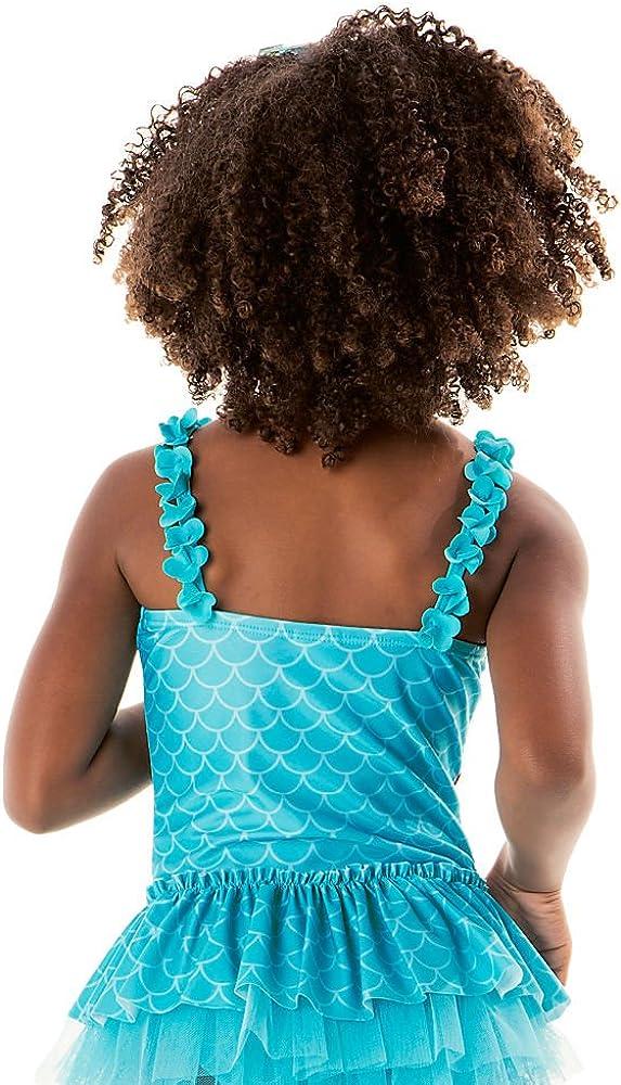 Disney Ariel Deluxe Swimsuit for Girls Size 5//6 Blue