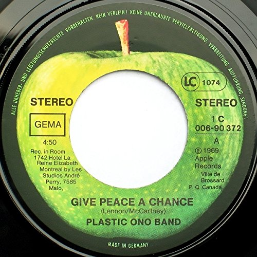 Plastic Ono Band, The - Give Peace A Chance / Remember Love - Apple Records - 1C 006-90 372