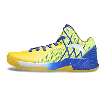 0a372b690682 Anta KT1 Klay Thompson Golden State Warriors Home Playoffs Basketball Shoes -Yellow Blue