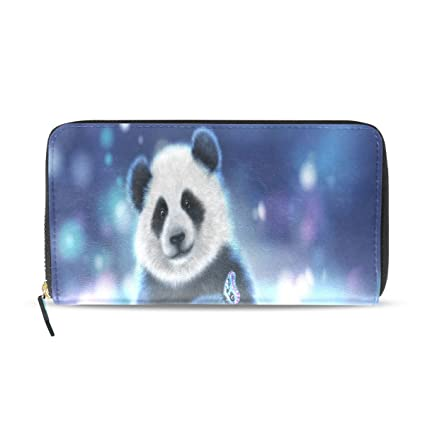 Amazoncom Womens Wallets Panda 3d Wallpapers Leather