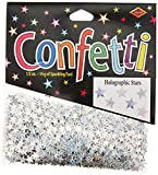 Beistle CN054 Silver Holographic Stars Confetti, 1/2-Ounce