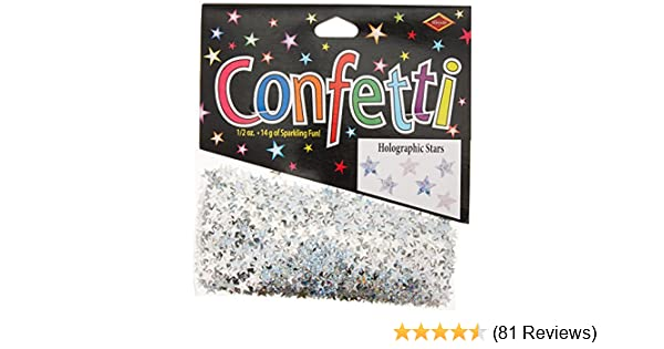 60 And Stars Confetti Pack of 3 Banners, Streamers & Confetti Toys ...