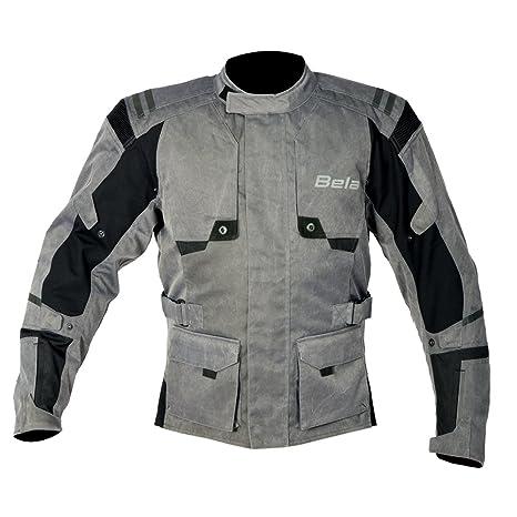 Bela Chaqueta moto textil para los hombres Alpha Vintage Gris (XS)