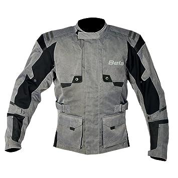 Bela Chaqueta moto textil para los hombres Alpha Vintage Gris (XS): Amazon.es: Coche y moto