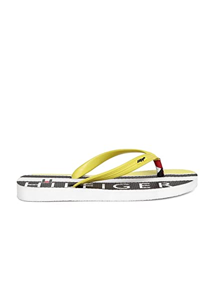 cf77c9e3c468 Tommy Hilfiger Men Yellow Flip Flops (10)  Buy Online at Low Prices ...