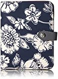 Vera Bradley Women's Midtown Rfid Passport Wallet, Midnight Floral, One Size