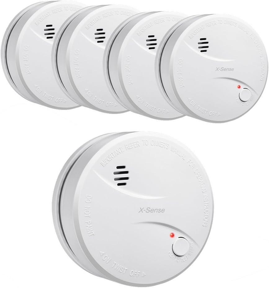 Year Battery Smoke Alarm Fire Detector
