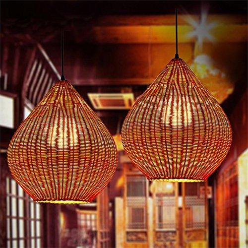 TOYM US-Pastoral rattan retro nostalgia creative sphere chandelier