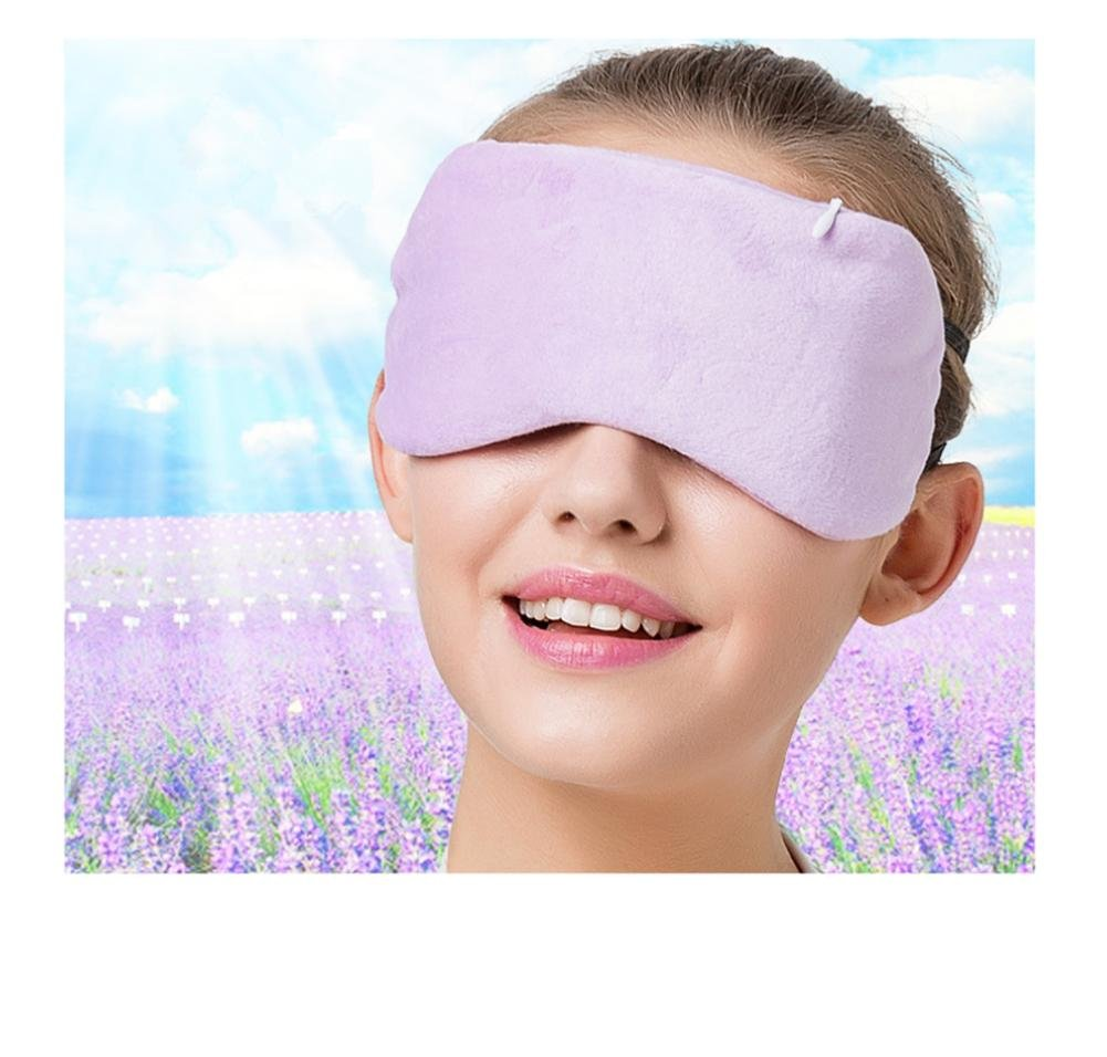 WE&ZHE Hot Compress Eye Cover Electric Sleep Goggles - USB Jack + Second Gear Temperature Control Switch - To Relieve Eye Fatigue And Eliminate The Dark Circles , purple by WE&ZHE