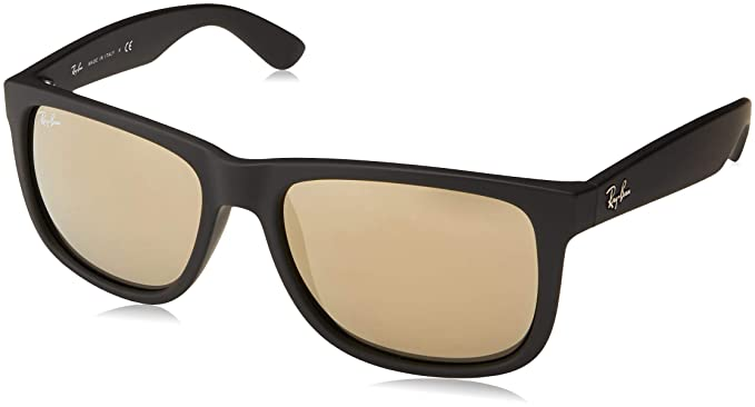 Ray-Ban Hombre Justin gafas de sol RB4165, Negro, Negro (Gold 622