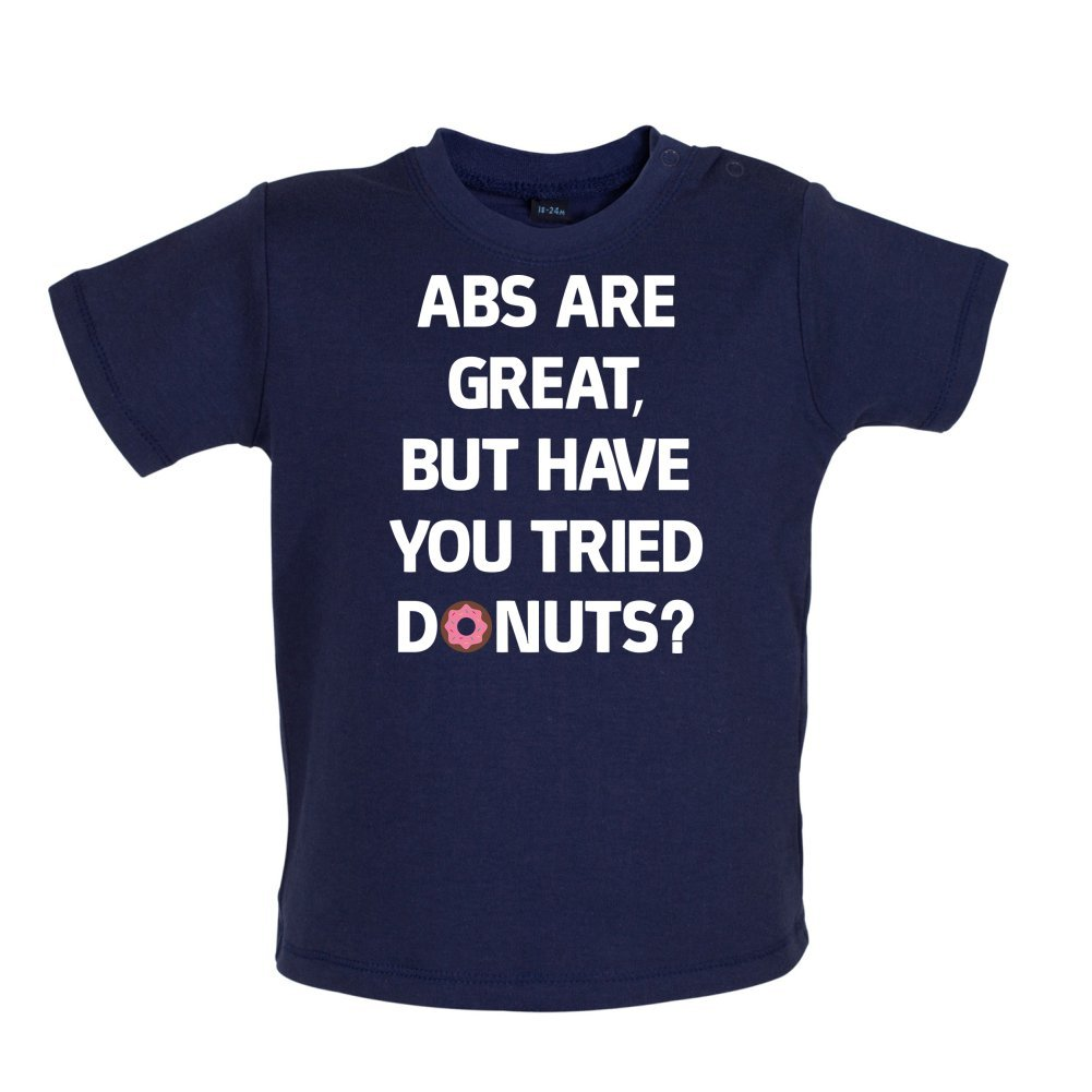 Donuts Baby//Toddler T-Shirt 3-24 Months Abs are Great