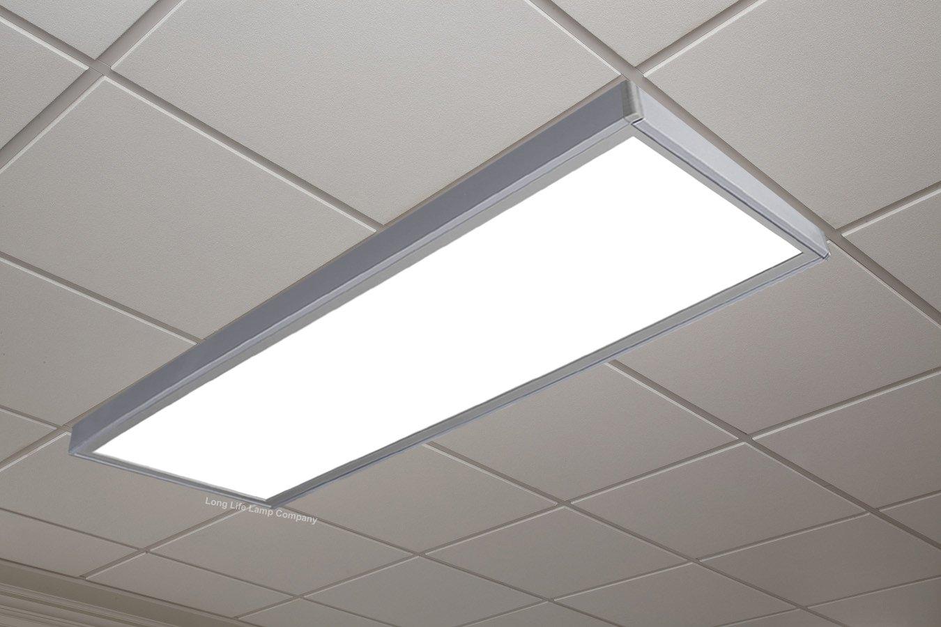 40w Surface Mount LED Panel 1200 x 300 Frame with LED Panel White Body  6500k Super Bright Daylight