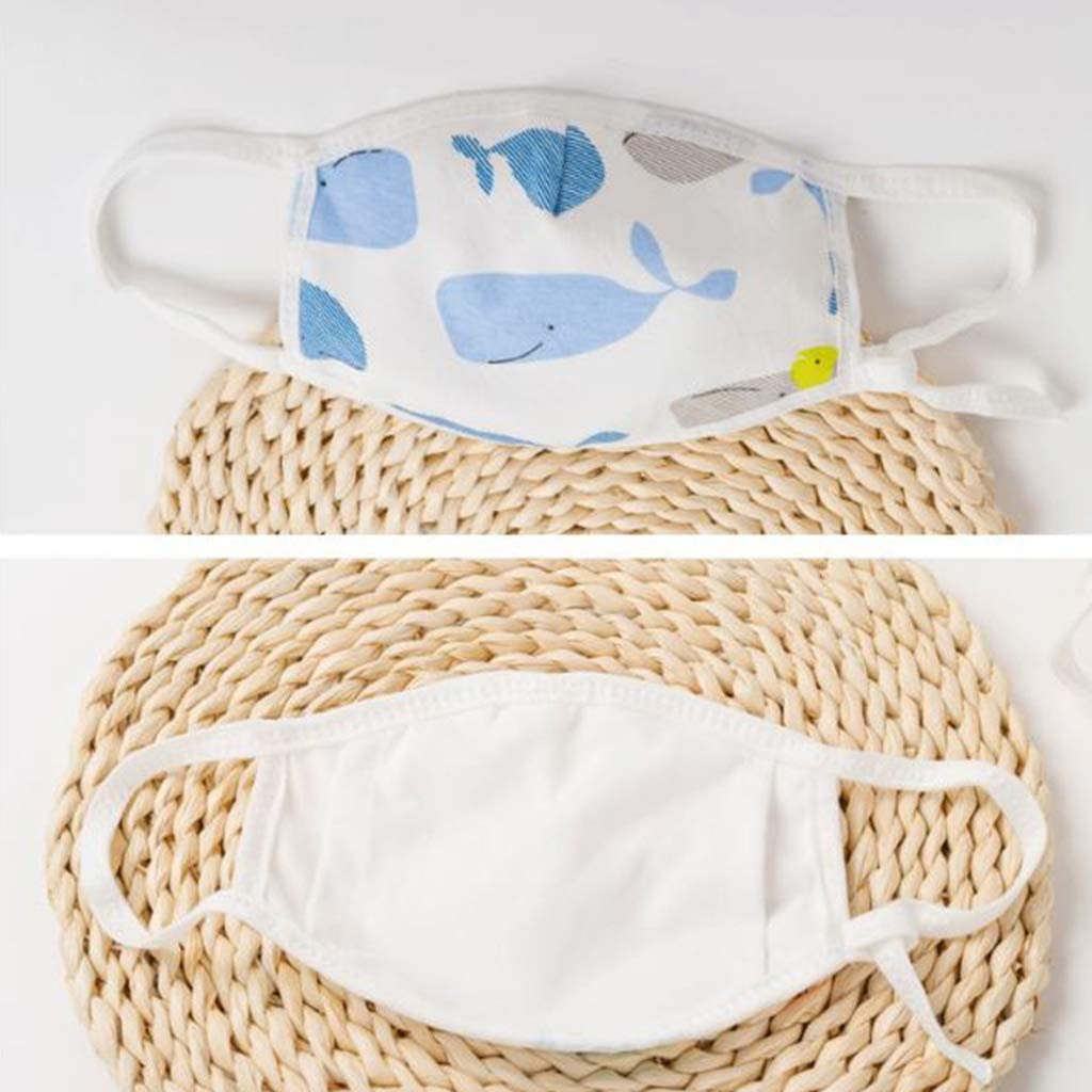 3 St/ück 4 Lagen Anti-Dunst Baumwolle Unwstyu Gesichtsschutz f/ür Kinder